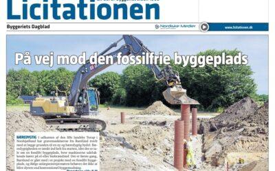 """Artikel i Licitationen om Hvideland: """"Barslund på grøn kurs med fossilfri byggeplads i Nordsjælland"""""""